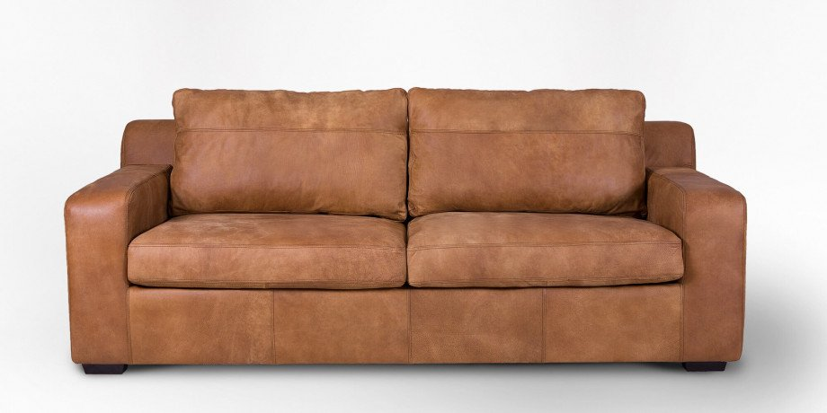 Lodge Leather 3 Seater Couch