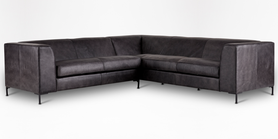 Orson Leather Corner Couch