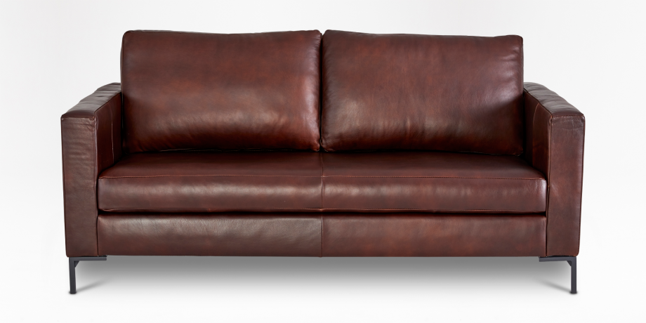 Sami Leather 2 Seater Couch