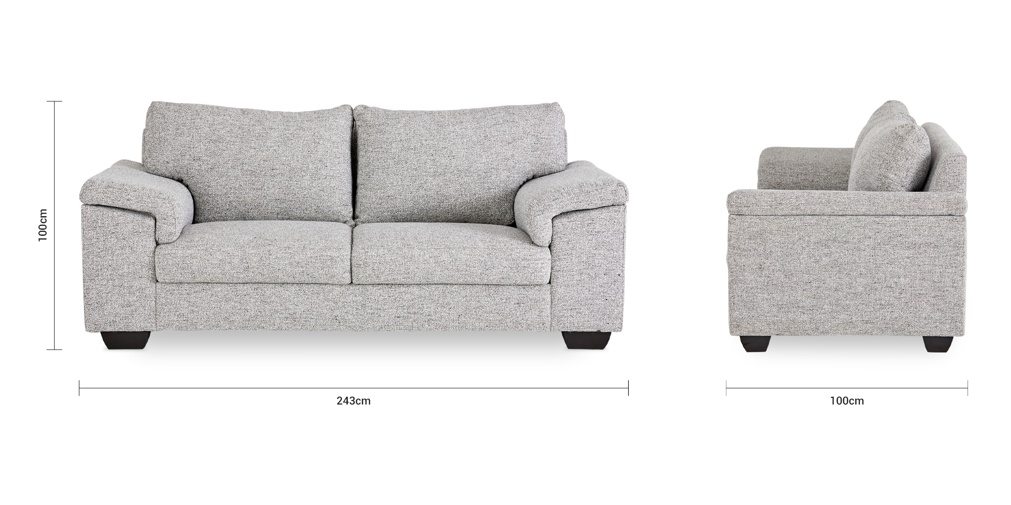 Bianca Fully Upholstered 3 Seater Couch