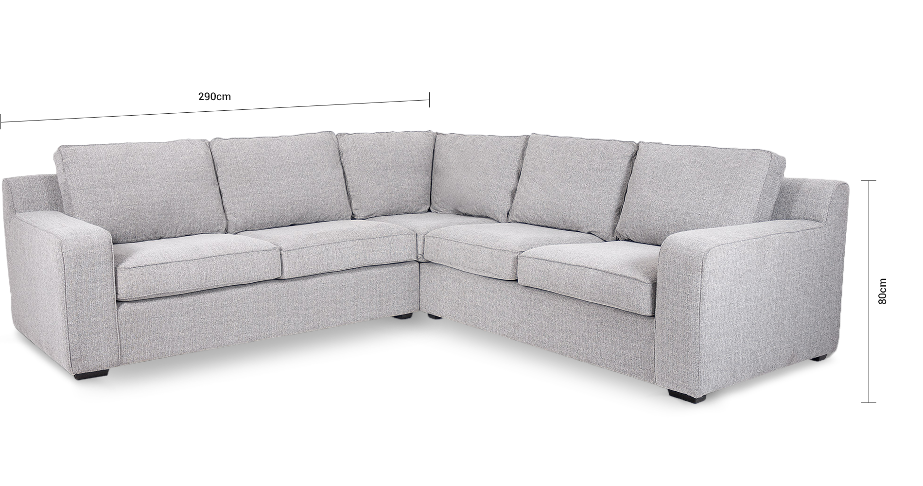 Lodge Fully Upholstered Corner Couch