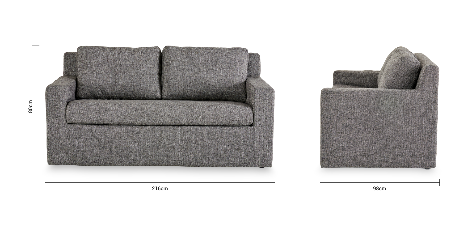 Ollie Slipcover 3 Seater Couch