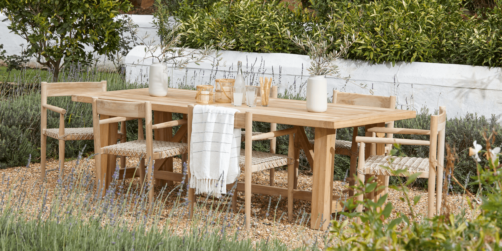 Gama 2.4m patio dining table